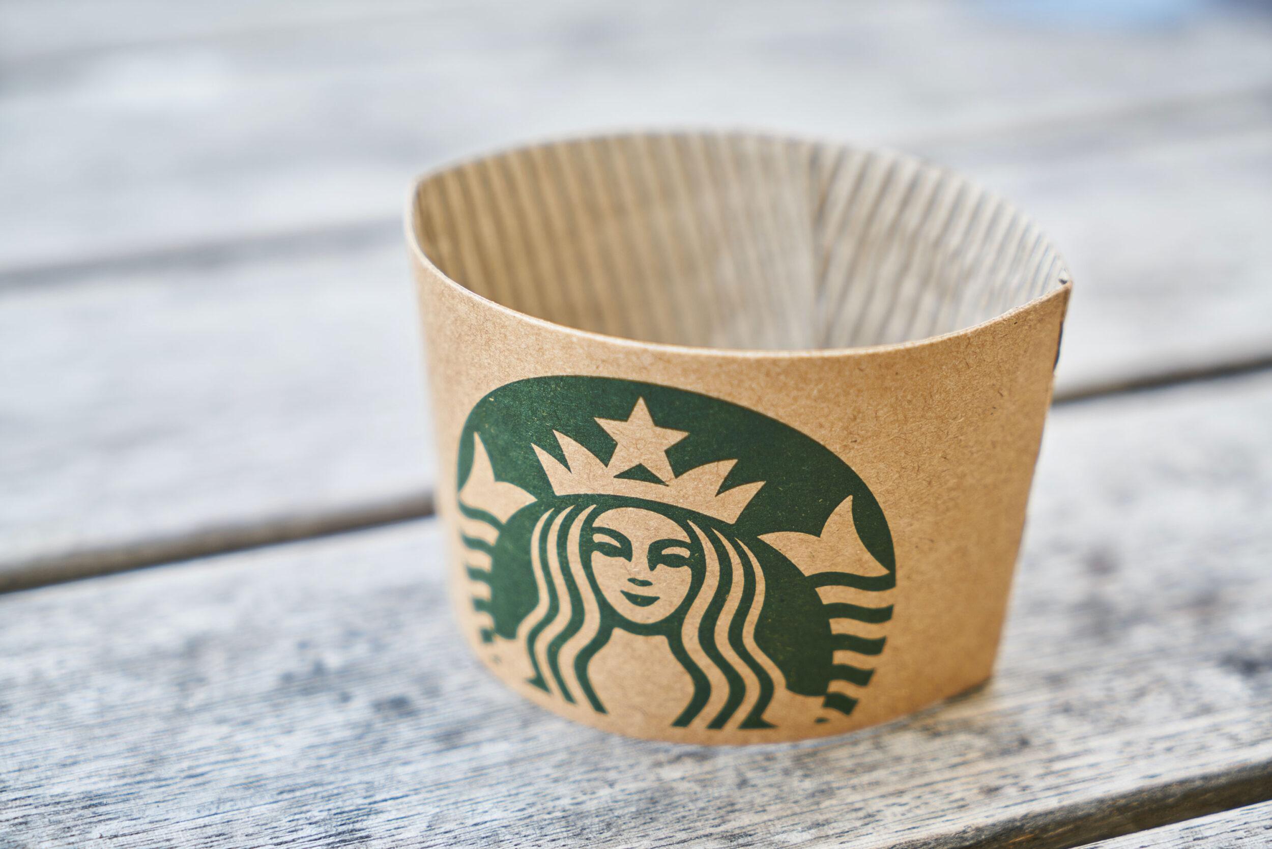 envoltorio de cartón Starbucks